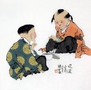 Two children - Chinese Painting
