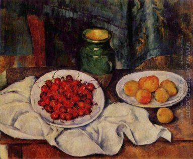 Still Life With A Plate Of Cherries Aka Cherries And Peaches