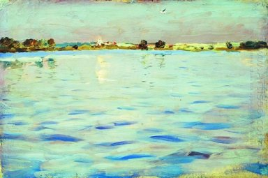 The Last Rays Of The Sun A Lake 1899