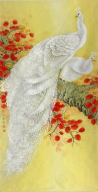 Peacock-Vertically - Chinese Painting