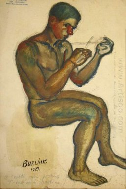 Seated Young Man Study To Father Time 1927