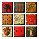 Hand-painted Oil Painting Abstract Oversized Square - Set of 9