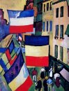 Street Decked With Flags 1906
