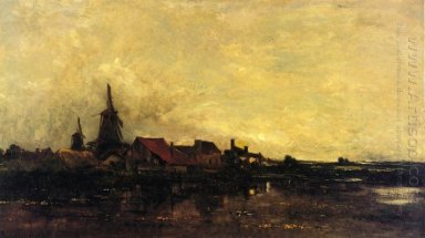 The River Meuse At Dordrecht 1872