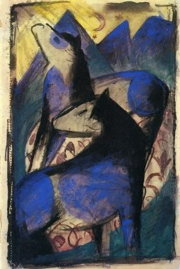Two Blue Horses 1913