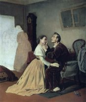 Arrival Schoolgirl To A Blind Father 1870