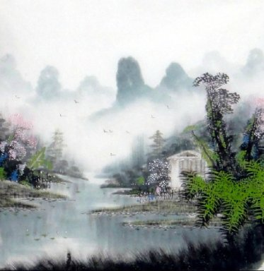 Lake, Moutains - Chinese Painting