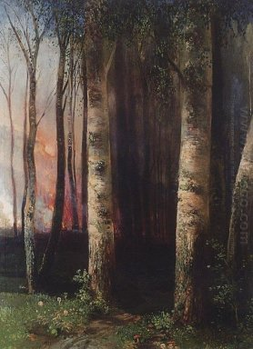 fire in woods 1883