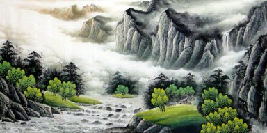 Green Trees - Chinese Painting