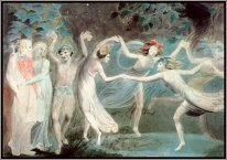 Oberon Titania And Puck With Fairies Dancing