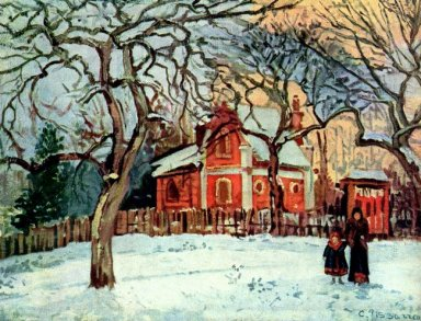 chestnut trees louveciennes winter 1872