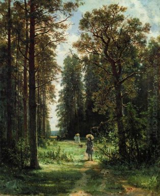The Path Through The Woods 1880 Oil On Canvas 1880