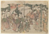 Courtesan S Entourage At New Year S Festival 1788