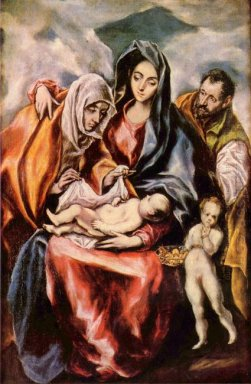 The Holy Family With St Anne And The Young St John The Baptist