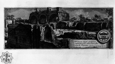 The Roman Antiquities T 1 Plate Xxxiii Veduta With Ruins Of Nero