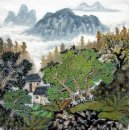 A Courtyard in the Mountain - Chinese Painting