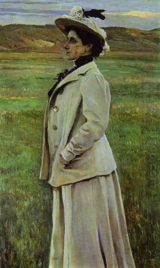Portrait Of Natalia Yashvil 1905
