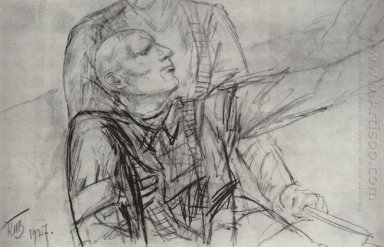 Drawing For The Painting Death Of Commissioner 1927