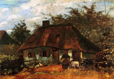 Cottage And Woman With Goat 1885