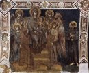 Madonna Enthroned With The Child St Francis And Four Angels 1280