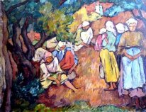 Composition with Peasant Women