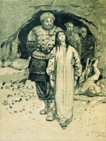 "Dobrynya Nikitich. Illustration for the book ""Russian epic heroe"