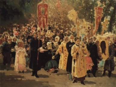 Religious Procession In An Oak Forest Appearance Of The Icon 187
