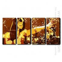 Hand-painted Oil Painting Abstract - Set of 4