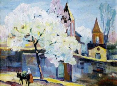 Surb Zoravor Church Blooming Apricot Tree 1934