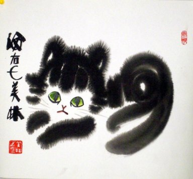 Cat-Freehand - Chinese Painting