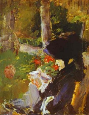 mother in the garden at bellevue 1880