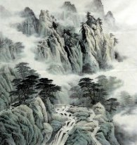 Pegunungan, Air, Cloud - Lukisan Cina