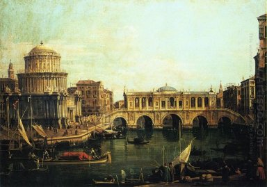 capriccio of the grand canal with an imaginary rialto bridge and