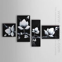 Hand Painted Oil Painting Floral - Set 4