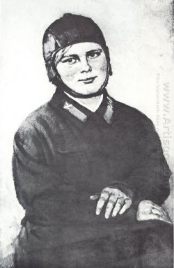 Portrait Of Pilot Woman M S Zimova 1937
