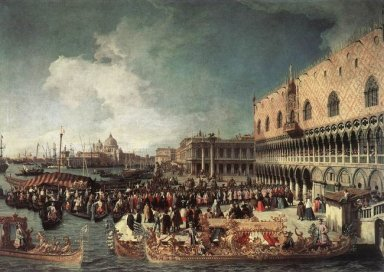reception of the ambassador in the doge s palace 1730