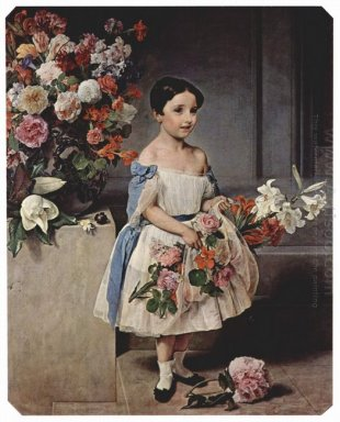 Portrait Of Antoniet Negroni Prati Morosini As Child 1858