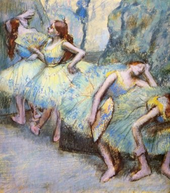 ballet dancers in the wings 1900