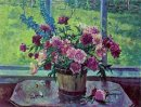 Still Life Peonies At The Window 1948