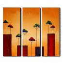 Hand Painted Oil Painting Landscape - Set of 3 1211-LS0227