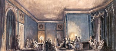 the scene of the ball set design for tchaikovsky s opera queen o