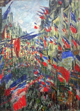 The Rue Montargueil With Flags