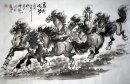 Horse-ToSuccess(Run to right) - Chinese Painting