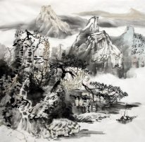 A farmhouse - Chinese painting