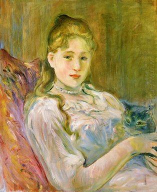 Young Girl With Cat 1892