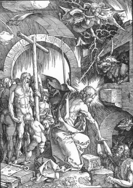 the harrowing of hell or christ in limbo from the large passion