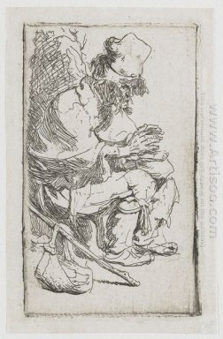 Beggar Seated Warming His Hands At A Chafing Dish 1630