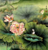 Lotus-Bloom - Chinees schilderij