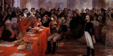 A Pushkin On The Act In The Lyceum On Jan 8 1815 Reads His Poem
