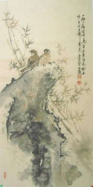 Bamboo & Birds - Chiense Painting
